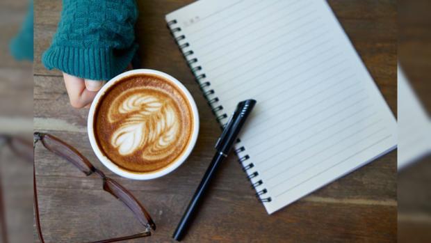 блокнот кофе