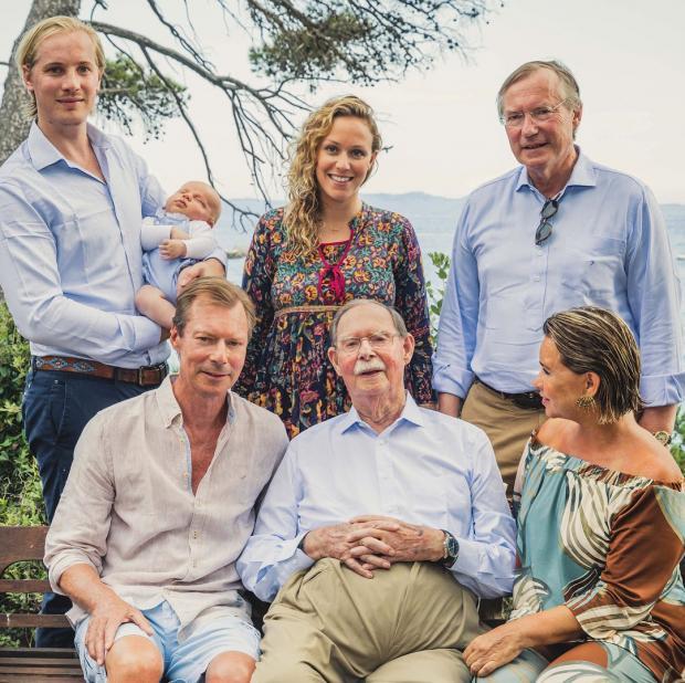 герцог люксембурга жан с семьей