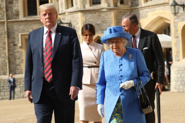 дональд трамп и королева елизавета