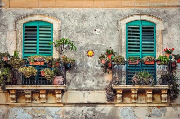 дом с цветами