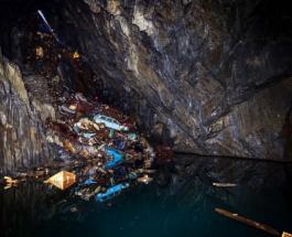 Кладбище заброшенных автомобилей в пещере: видео удивительной находки в Уэльсе