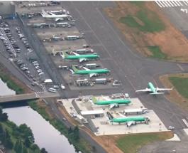 Boeing хранит непроданные самолеты на автопарковках: видео с высоты птичьего полета
