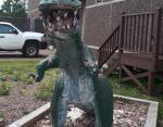 Этот динозавр установлен перед Музеем естественной истории!