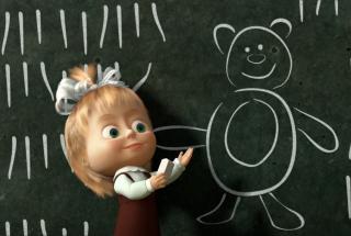 Маша и Медведь - Опять в школу: лучшие серии с лесными друзьями про учебу