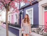 Блогеры возле розового дома