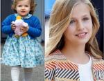 Принцесса Леонор сейчас и в детстве