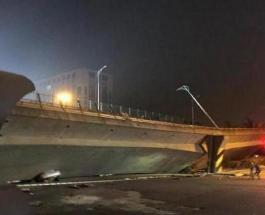 В Китае рухнул мост: три человека погибли