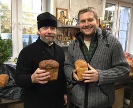 Борис Корчевников в Киеве: телеведущий посетил Свято-Введенский монастырь