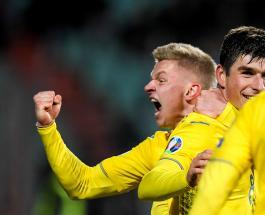 Сборная Украины по футболу обыграла сборную Португалии