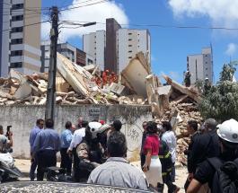 В Бразилии обрушилось 7-этажное жилое здание: есть погибшие