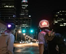 Шлем со светодиодным указателем поворота – интересная разработка для велосипедистов