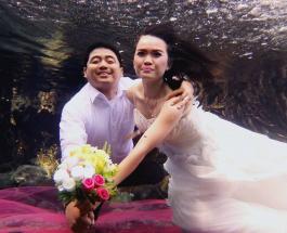 Подводная фотосессия на дне озера: пруд в Индонезии неожиданно стал хитом соцсетей