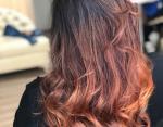 Рыже-бардовый градиент