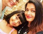Айшвария с дочерью и мамой
