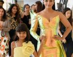 Айшвария с дочерью на Каннском кинофестивале 2019