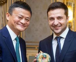 Самый богатый человек Китая Джек Ма провел встречу с Владимиром Зеленским