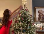 Брук Шилдс сама украсила елку