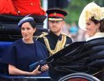 Кейт Миддлтон, Меган Маркл и принц Гарри на официальном праздновании дня рождения королевы