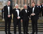 Герцог Кембриджский, сэр Дэвид Аттенборо, принц Уэльский и герцог Сассексский на мировой премьере фильма «Наша планета»