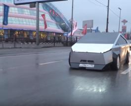 Копия Tesla Cybertruck на улицах Москвы: сколько дней и денег потрачено на создание шедевра