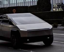 Электрокар будущего: футуристичный Cybertruck Илона Маска снова был замечен в Калифорнии