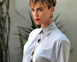 44-летняя Шарлиз Терон появилась в роскошном платье после интрижек с «Холостяком»