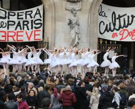 Самая красивая забастовка: артисты балета вышли на акцию протеста в Париже