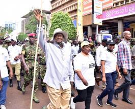 Президент Уганды Йовери Мусевени отправился в шестидневный поход через джунгли
