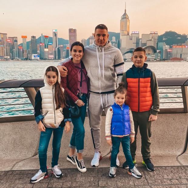 Ксения Бородина со своей семьей
