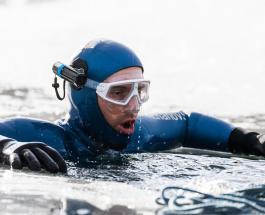Новый рекорд Гиннеса: фридайвер из России проплыл 180 метров подо льдом