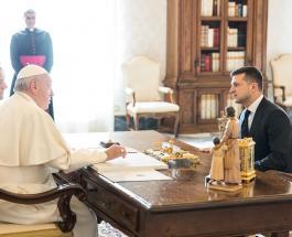 Владимир Зеленский и первая леди Украины встретились с Папой Римским
