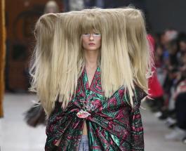 Странные причёски и макияж: фото с подиума Лондонской недели моды 2020