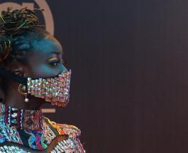 Защита от коронавируса может быть красивой: знаменитости из Нигерии в драгоценных масках