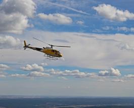 Родители на вертолете доставили сыну забытые дома учебники