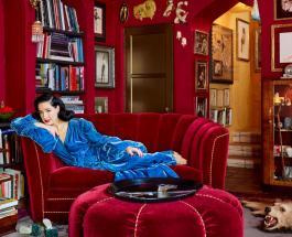 Звезда бурлеска Дита фон Тиз показала свой роскошный дом в Лос-Анжелесе