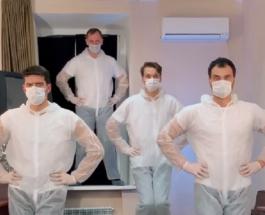 """CorUNOvirus: смешная пародия на танец Little Big от участников квартета """"Заячий стон"""""""