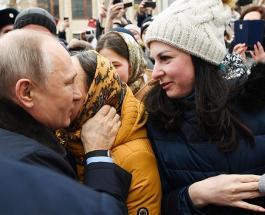 Владимир Путин нашел молодую поклонницу во время визита в город невест