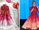 Дженифер Лопес и ее платье, воссозданное художницей