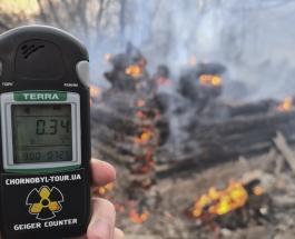 Из-за лесных пожаров уровень радиации в Чернобыле повысился в 16 раз