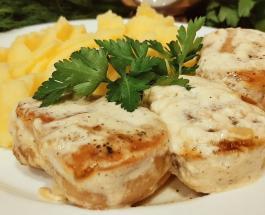 Что приготовить на ужин: рецепт мясных медальонов в сливочном соусе с чесноком и шпинатом