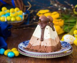 Рецепт необычной паски: готовим трехцветный творожный десерт