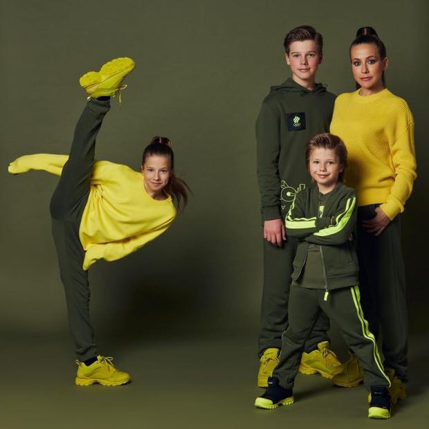 Юлия Барановская с семьей