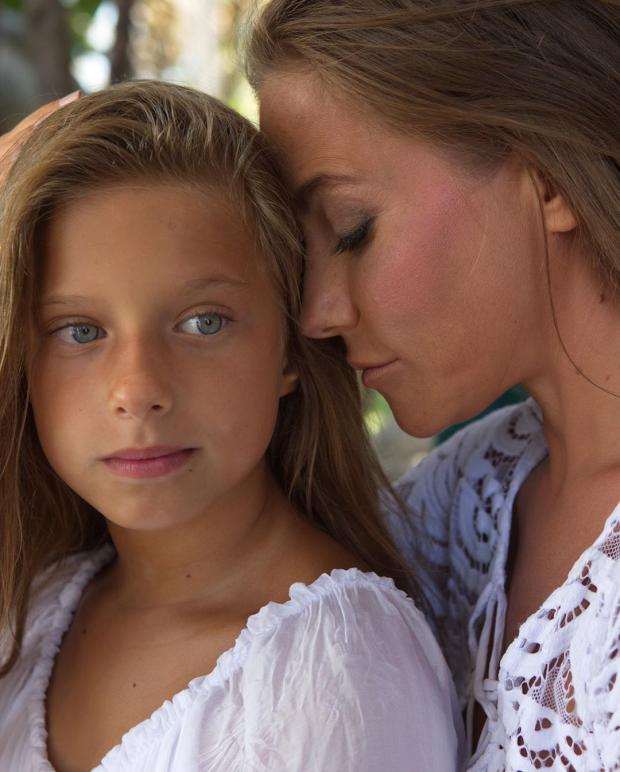 Барановская с дочерью