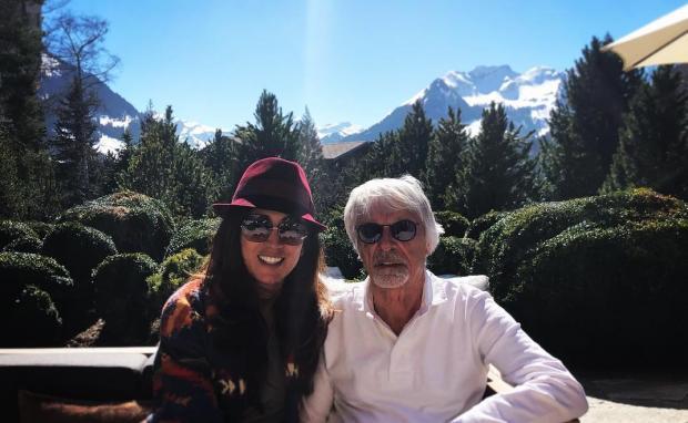 Берни Экклстоун с женой
