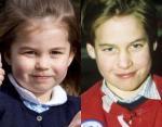 Слева Шарлотта, справа Принц Уильям