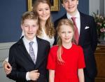 Принцесса Бельгии Елизавета с братьями и сестрой