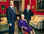 Королева Норвегии Маргрете II с наследниками - принцем Кристианом и кронпринцем Фредериком