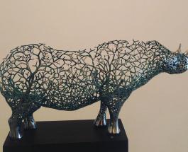 Дань природе: корейский художник создает из металла сюрреалистические скульптуры животных