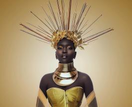 Королева тьмы: 10 фото Ньяким Гатвеч – модели с невероятно темным цветом кожи
