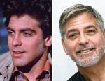 Джордж Клуни в 23 года и в 59 лет